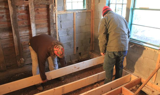 Fauquier Community Coalition, Critical Home Repair Projects, Two men doing home repair