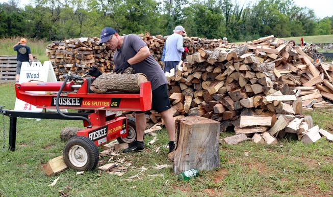 Fauquier Community Coalition, Firewood Initiative, Man Splitting Wood