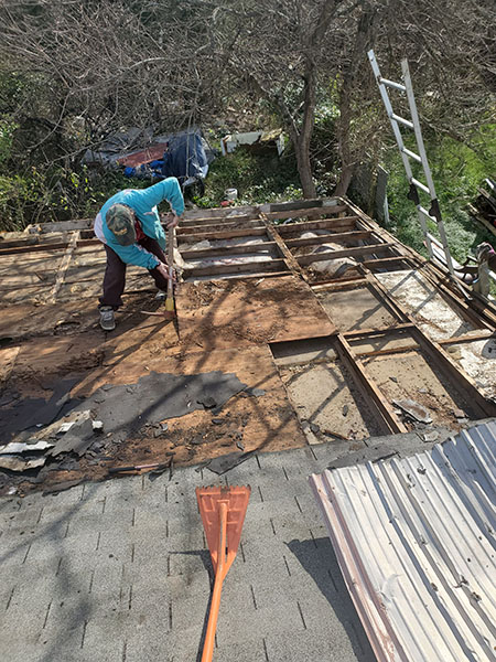 Fauquier Community Coalition, Critical Home Repair Projects, Man Fixing Roof