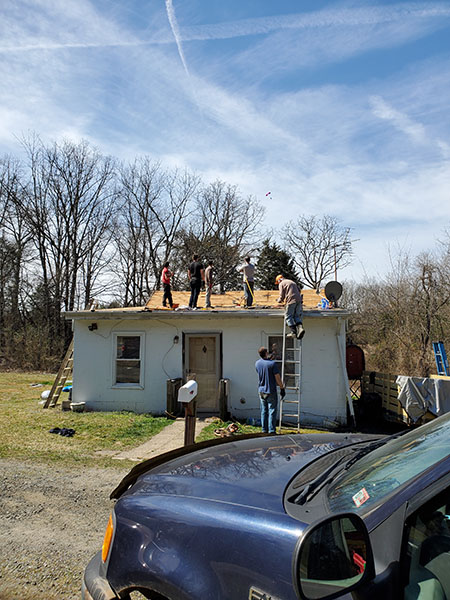 Fauquier Community Coalition, Critical Home Repair Projects, Home Roof Repair