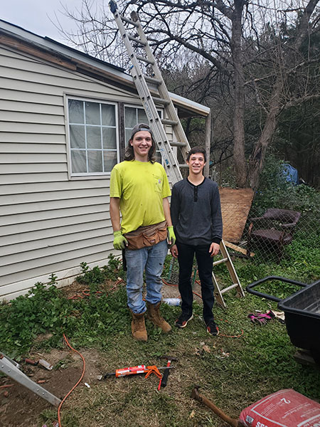 Fauquier Community Coalition, Critical Home Repair Projects, Two Kids Fixing Roof