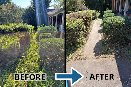 Fauquier Community Coalition, Critical Home Repair Projects, Exterior Cleanup Before and After