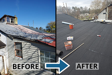 Fauquier Community Coalition, Critical Home Repair Projects, Roof Repair Before and After
