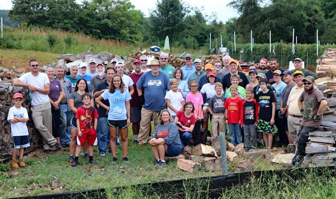 Fauquier Community Coalition, Firewood Initiative, Ministry Group Volunteers